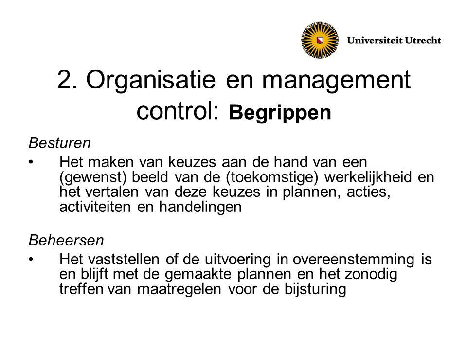 2. Organisatie en management control: Begrippen