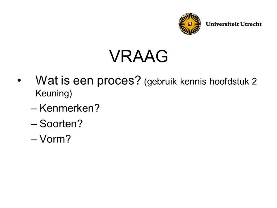 VRAAG Wat is een proces (gebruik kennis hoofdstuk 2 Keuning)