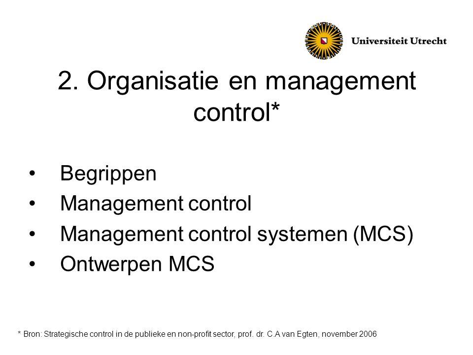 2. Organisatie en management control*