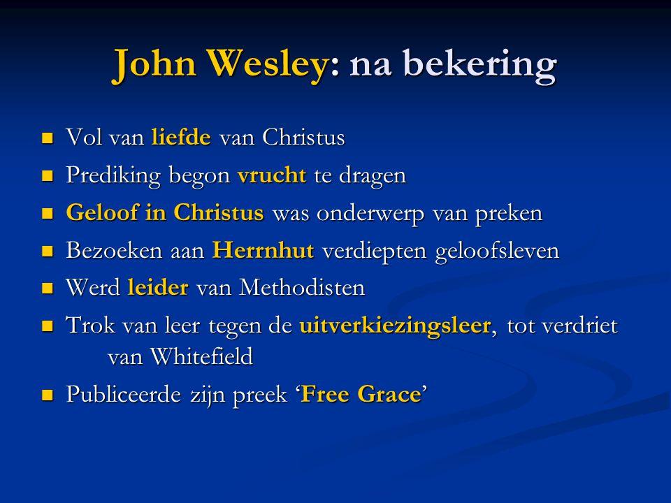 John Wesley: na bekering