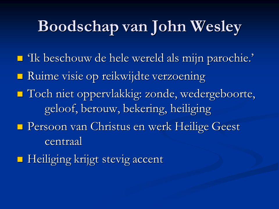 Boodschap van John Wesley