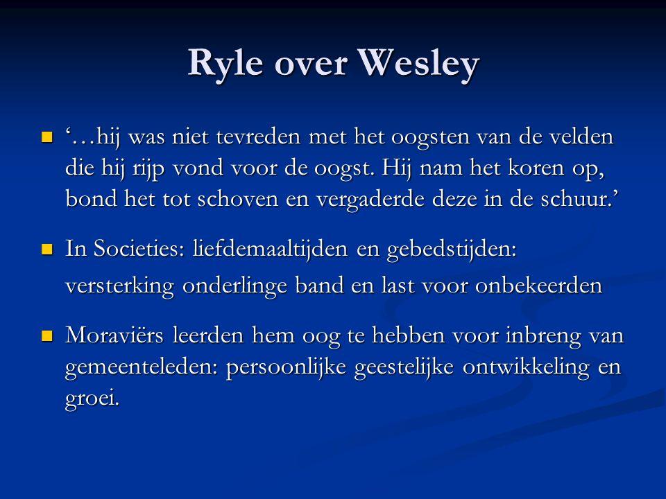 Ryle over Wesley