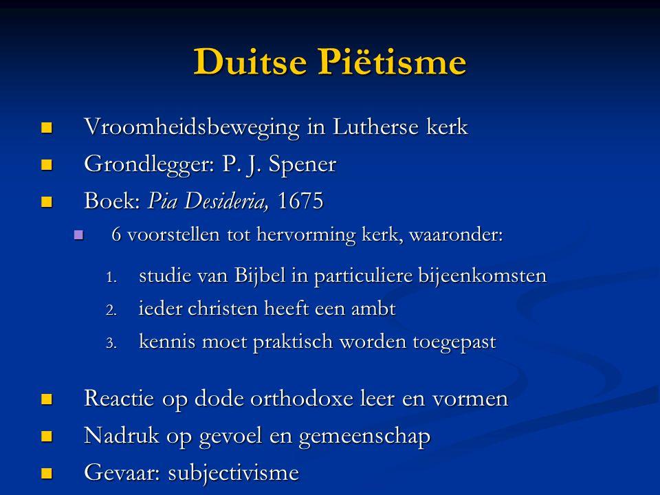 Duitse Piëtisme Vroomheidsbeweging in Lutherse kerk