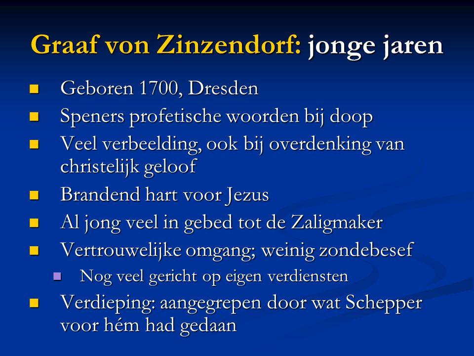 Graaf von Zinzendorf: jonge jaren