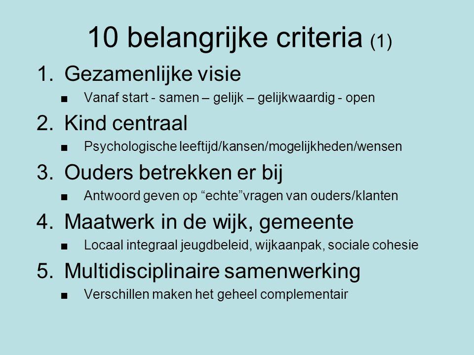 10 belangrijke criteria (1)