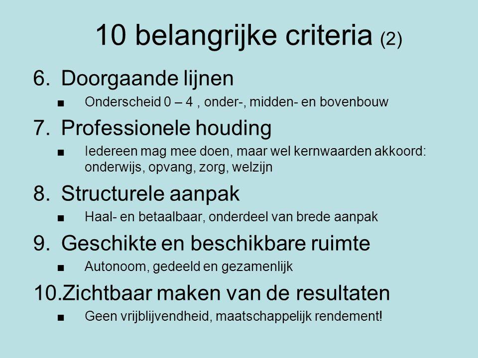 10 belangrijke criteria (2)