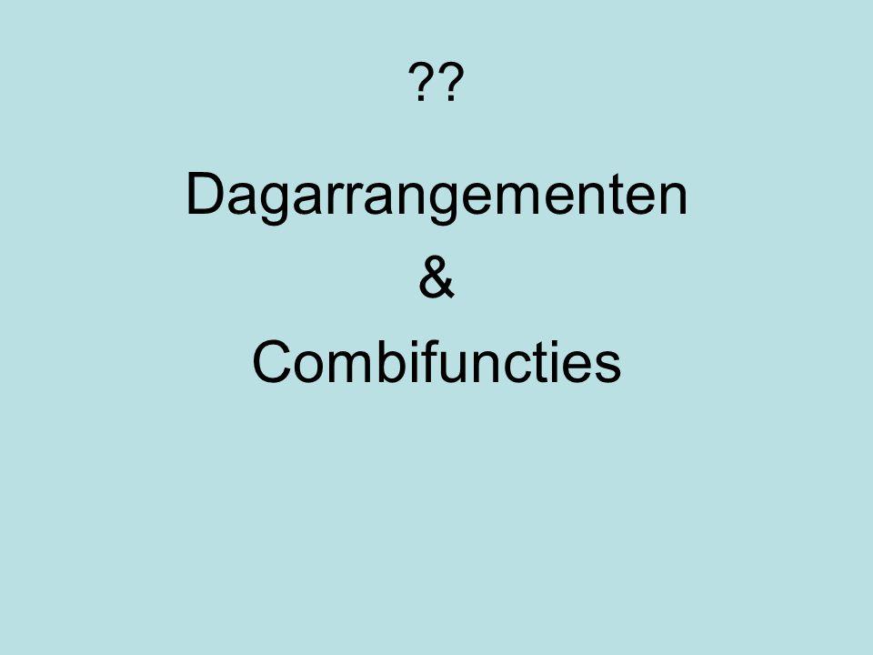Dagarrangementen & Combifuncties