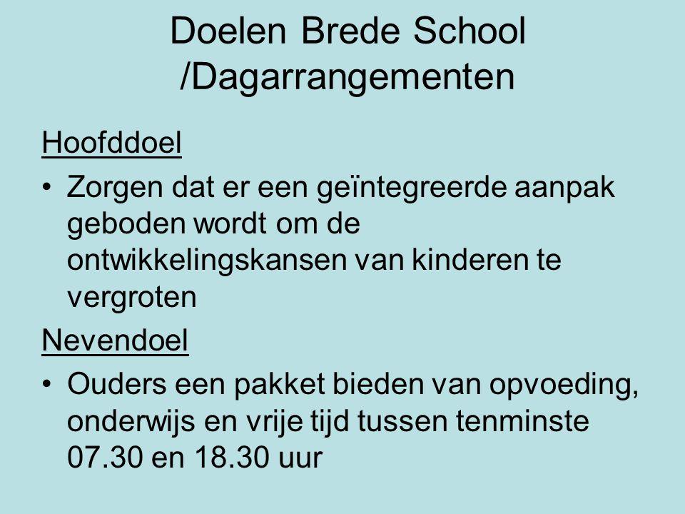 Doelen Brede School /Dagarrangementen