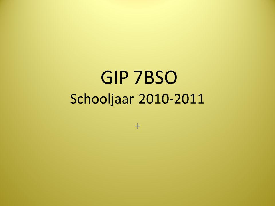 GIP 7BSO Schooljaar 2010-2011 +