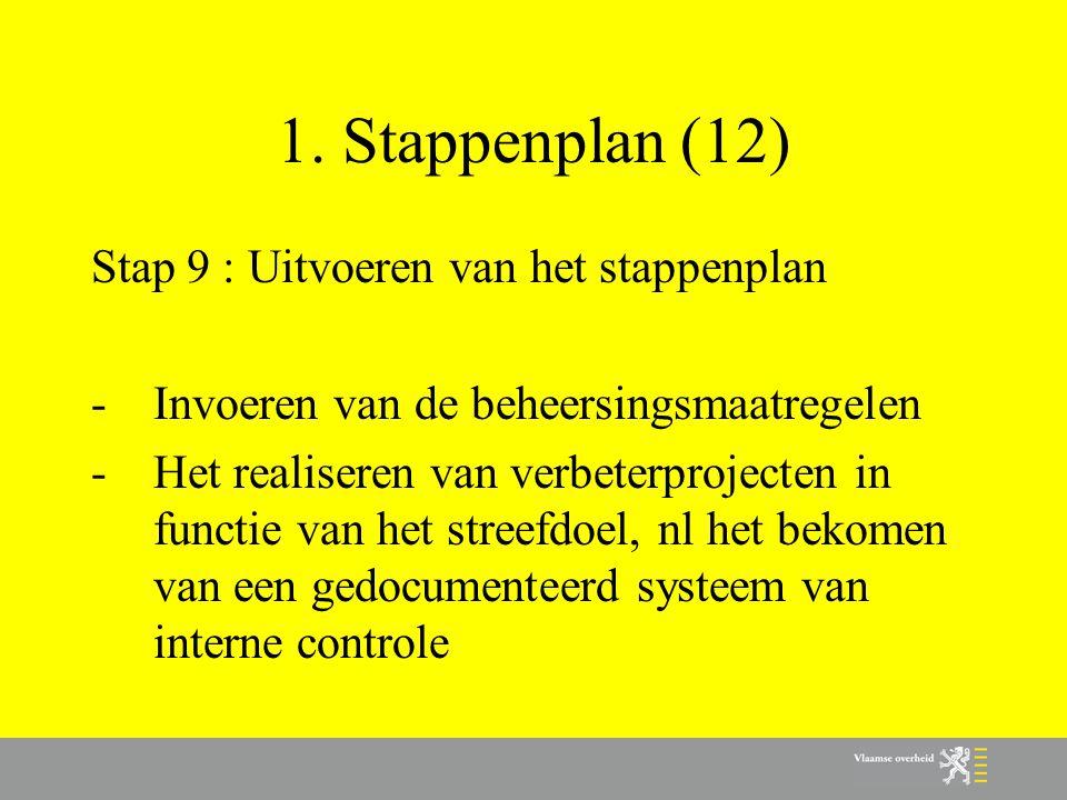 1. Stappenplan (12) Stap 9 : Uitvoeren van het stappenplan
