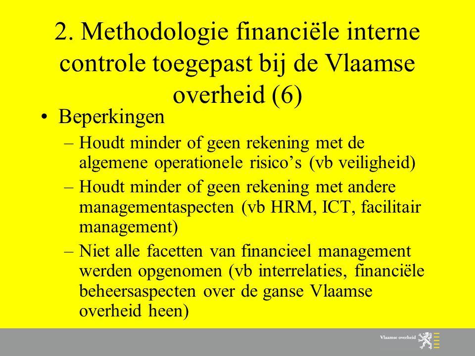 2. Methodologie financiële interne controle toegepast bij de Vlaamse overheid (6)