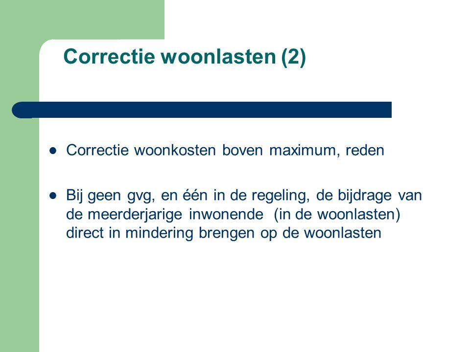 Correctie woonlasten (2)