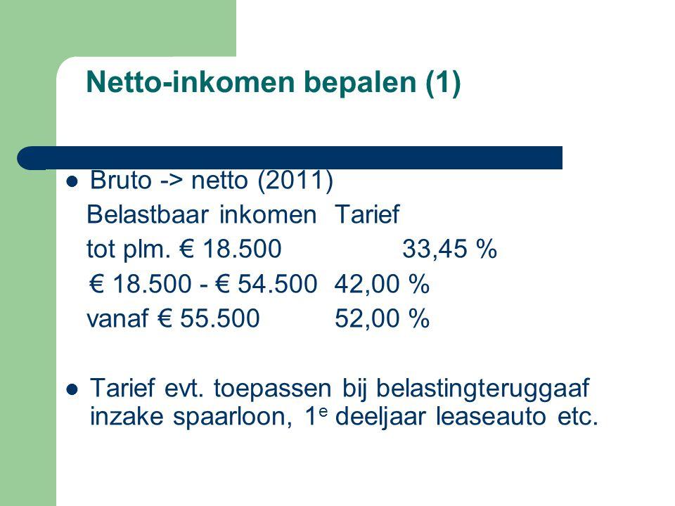 Netto-inkomen bepalen (1)