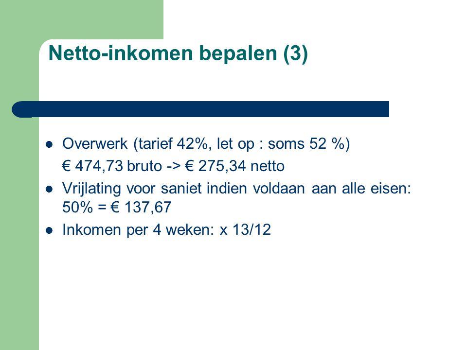Netto-inkomen bepalen (3)