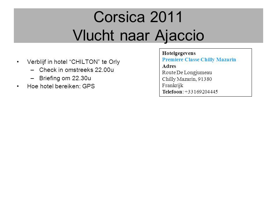 Corsica 2011 Vlucht naar Ajaccio
