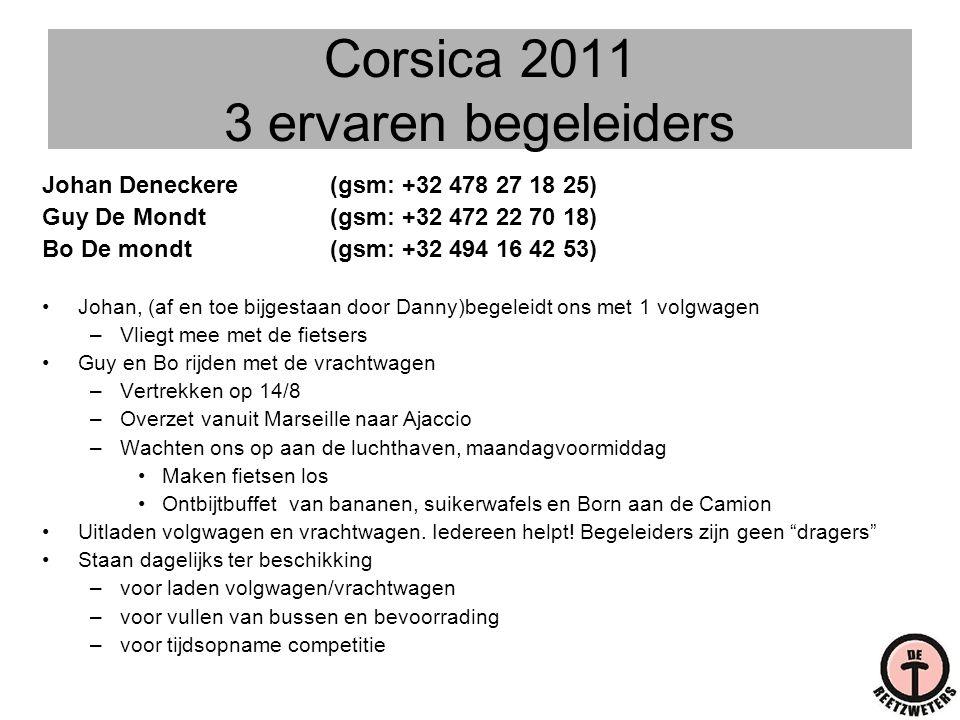 Corsica 2011 3 ervaren begeleiders