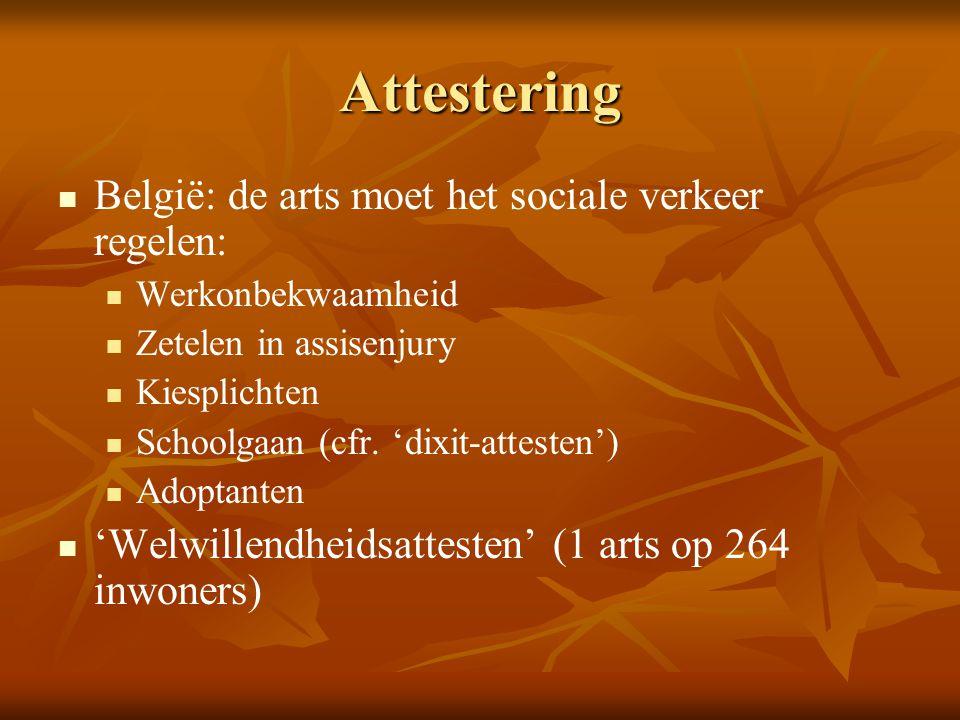 Attestering België: de arts moet het sociale verkeer regelen: