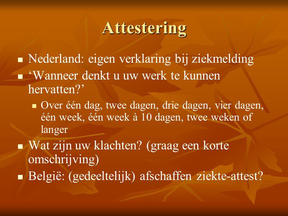Attestering Nederland: eigen verklaring bij ziekmelding