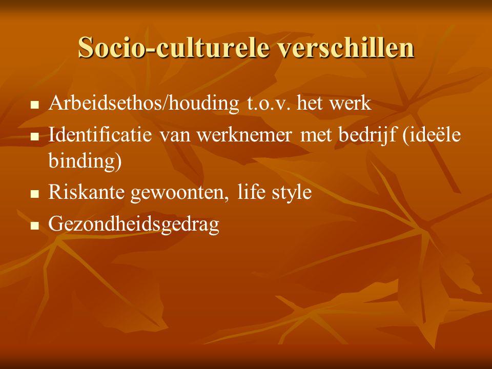 Socio-culturele verschillen