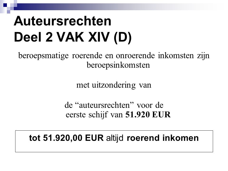 Auteursrechten Deel 2 VAK XIV (D)