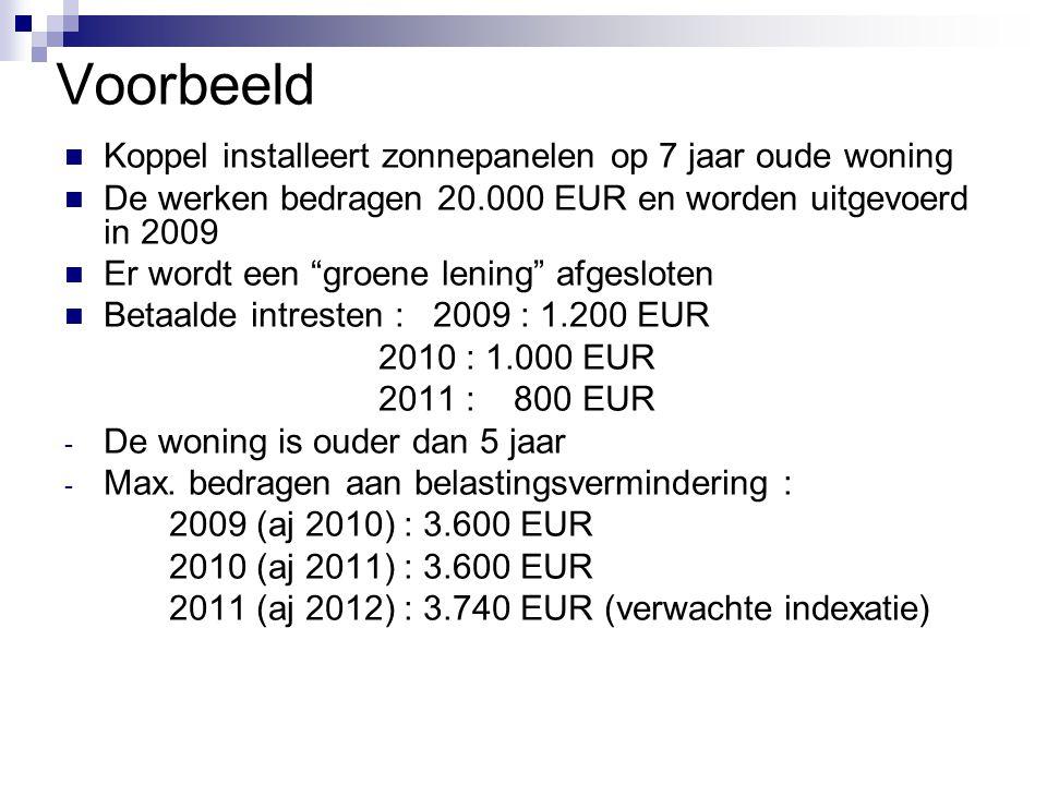 Voorbeeld Koppel installeert zonnepanelen op 7 jaar oude woning