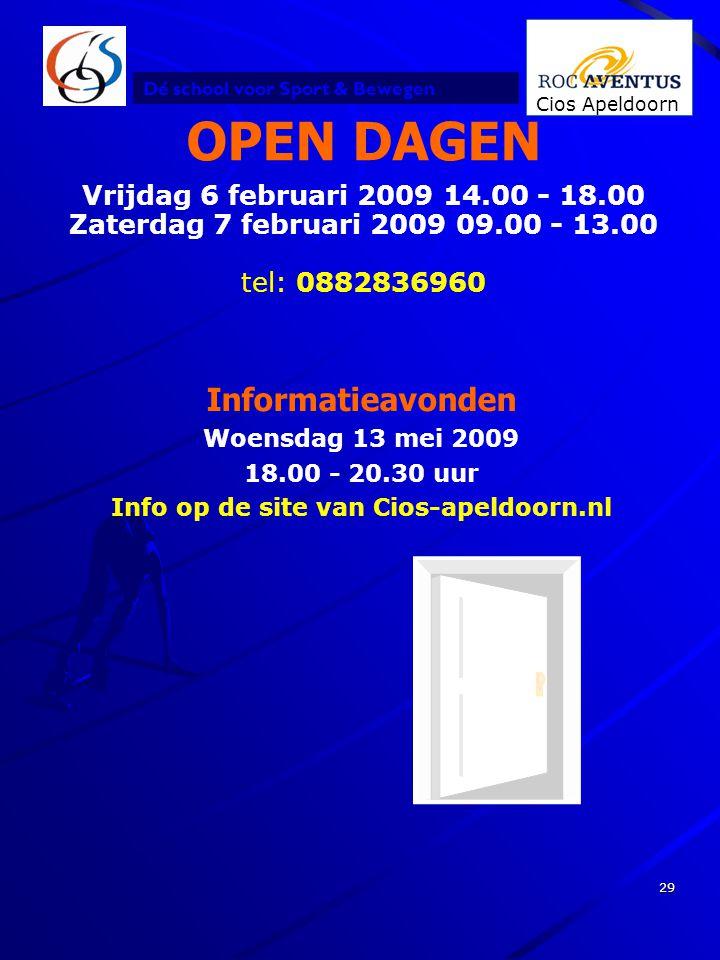 Info op de site van Cios-apeldoorn.nl
