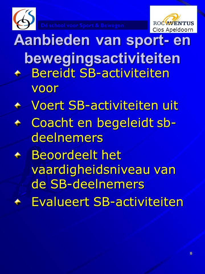 Aanbieden van sport- en bewegingsactiviteiten