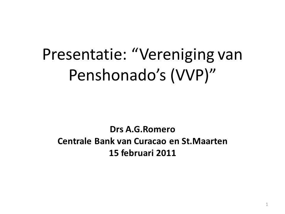 Presentatie: Vereniging van Penshonado's (VVP)