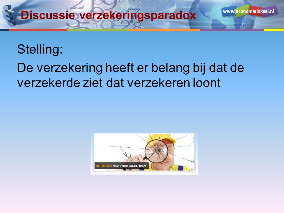 Discussie verzekeringsparadox