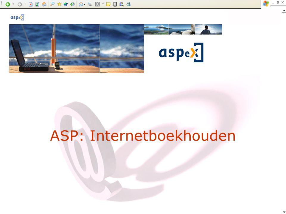 ASP: Internetboekhouden