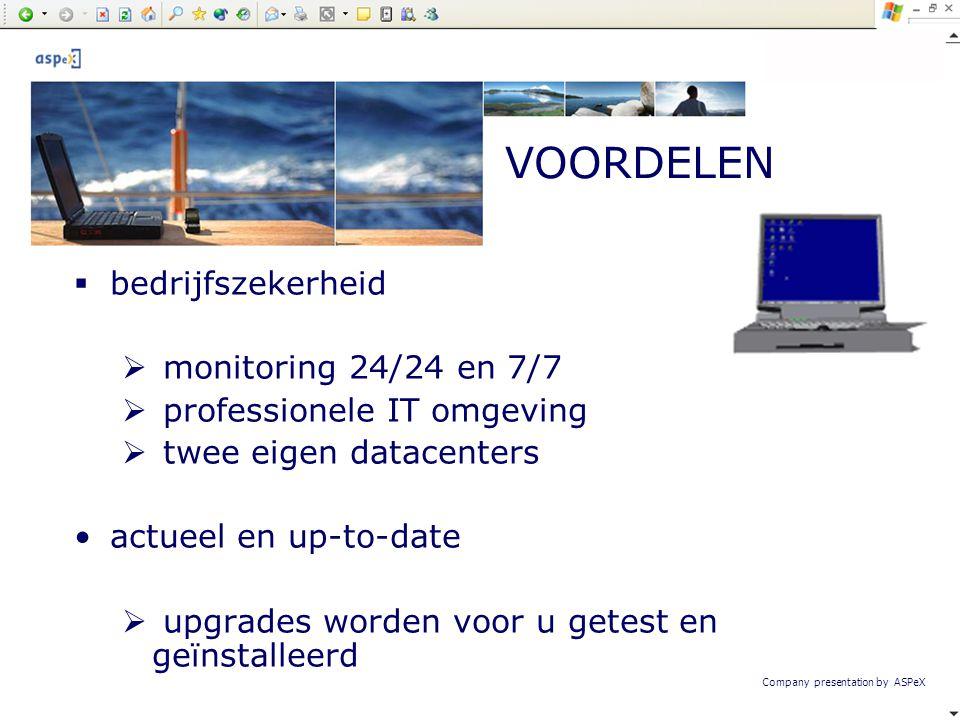 VOORDELEN bedrijfszekerheid monitoring 24/24 en 7/7