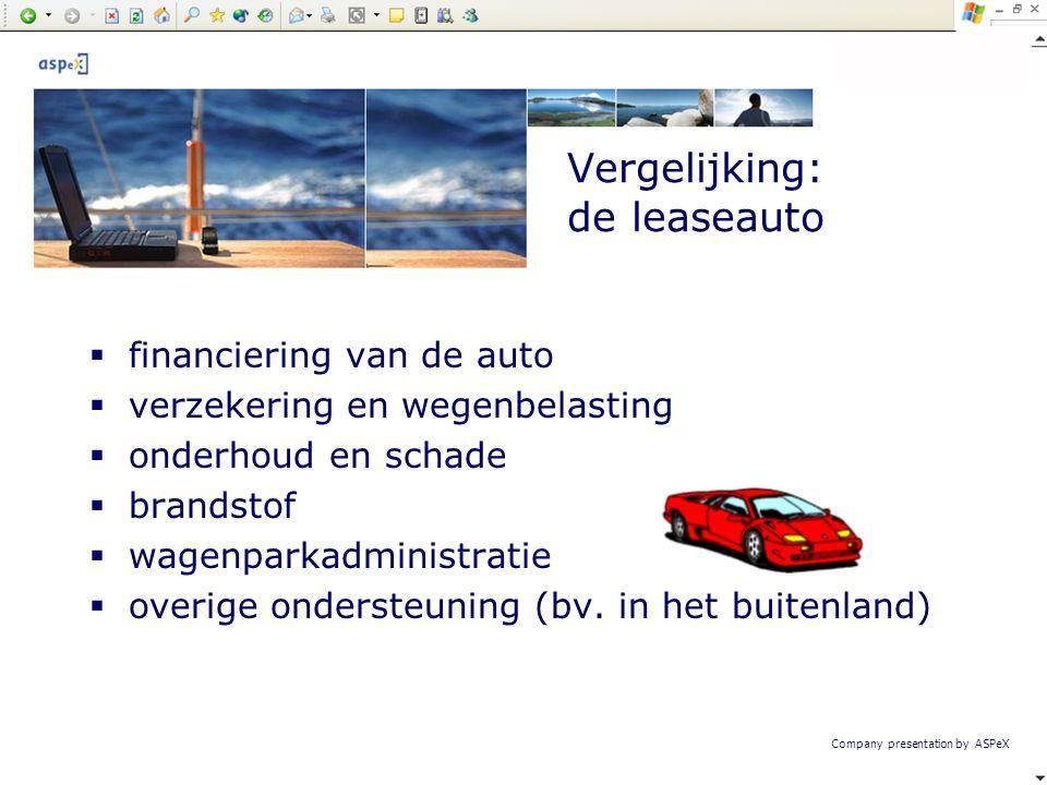 Vergelijking: de leaseauto