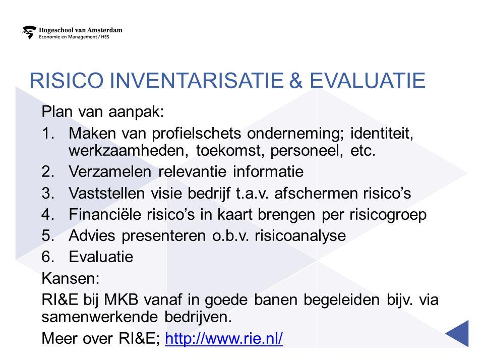 Risico Inventarisatie & Evaluatie