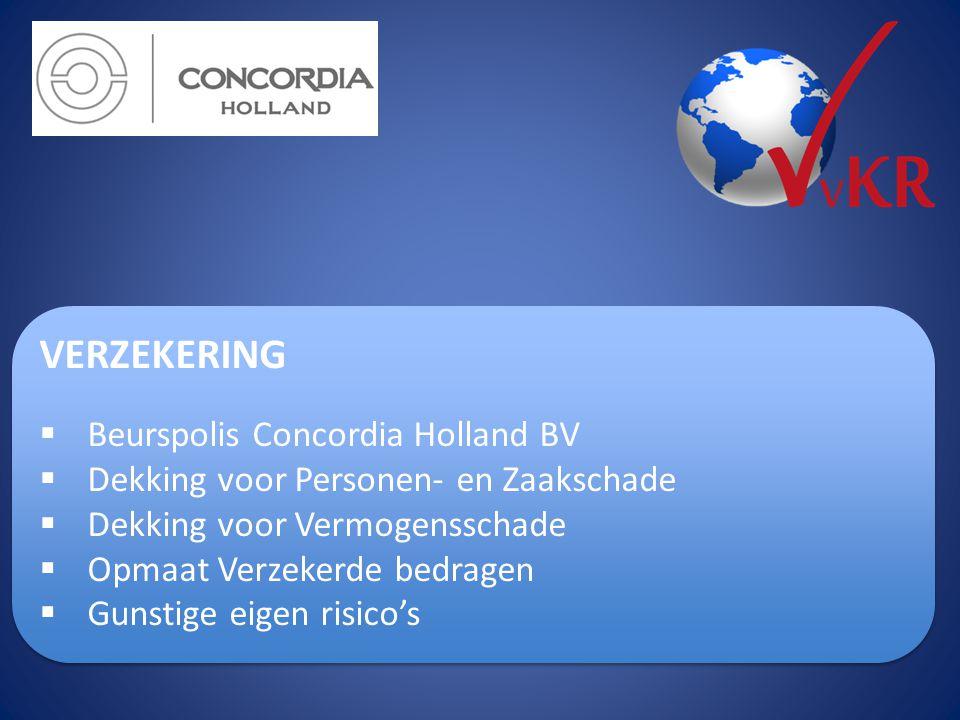 VERZEKERING Beurspolis Concordia Holland BV