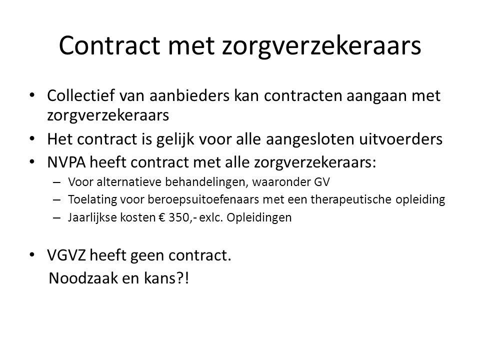 Contract met zorgverzekeraars