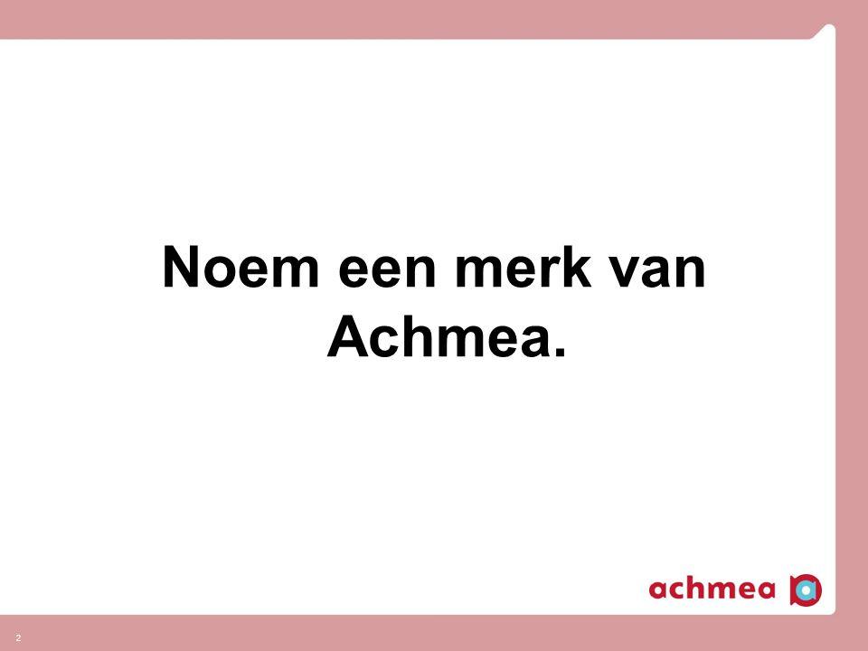 Noem een merk van Achmea.