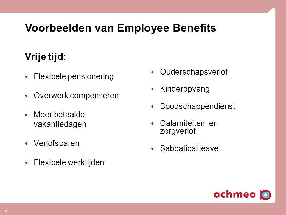 Voorbeelden van Employee Benefits