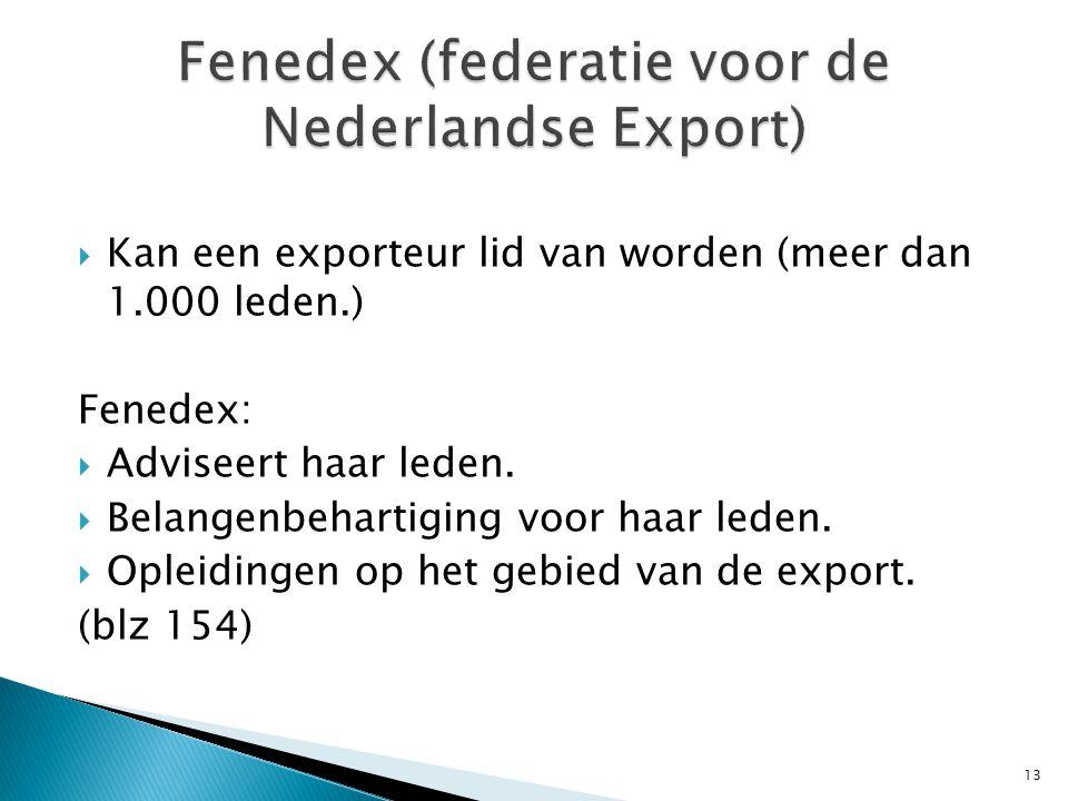 Fenedex (federatie voor de Nederlandse Export)