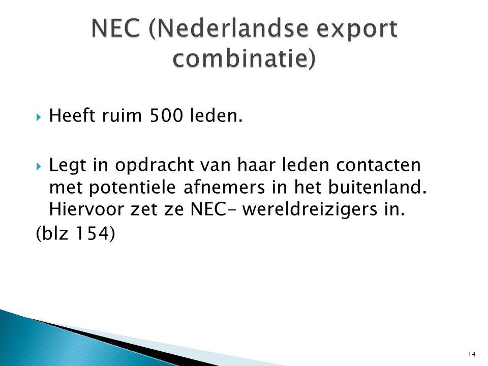 NEC (Nederlandse export combinatie)