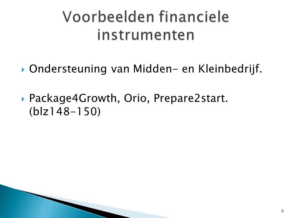 Voorbeelden financiele instrumenten