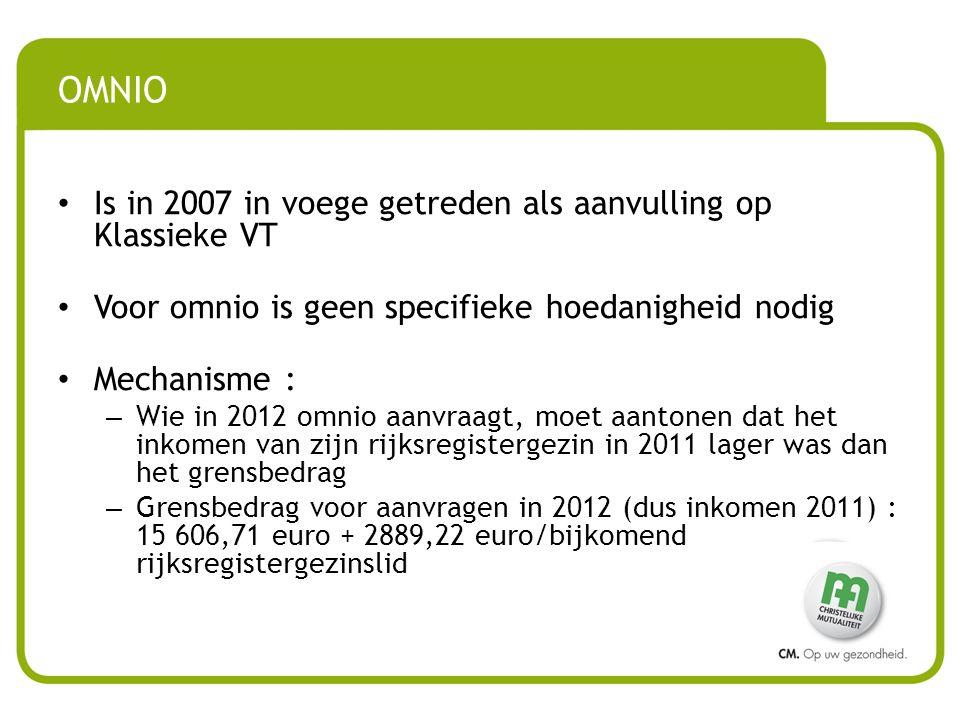 OMNIO Is in 2007 in voege getreden als aanvulling op Klassieke VT