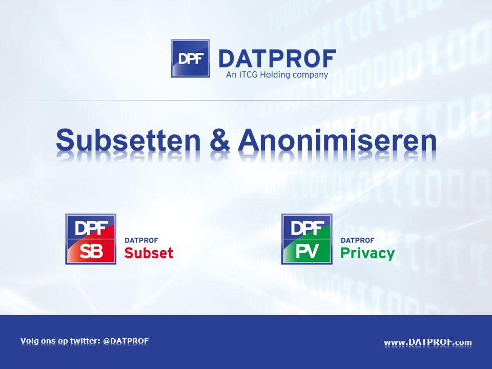 Subsetten & Anonimiseren