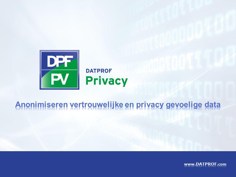 Anonimiseren vertrouwelijke en privacy gevoelige data