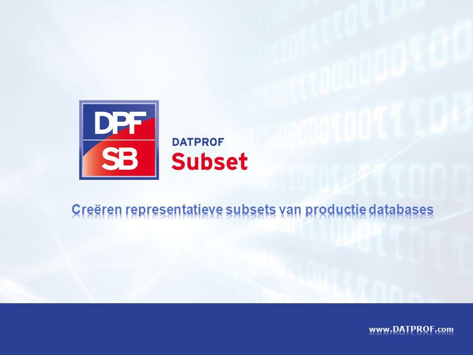 Creëren representatieve subsets van productie databases