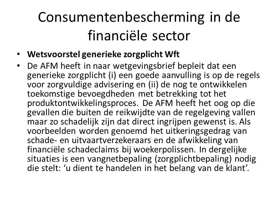 Consumentenbescherming in de financiële sector