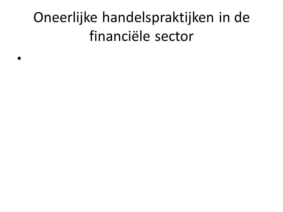 Oneerlijke handelspraktijken in de financiële sector