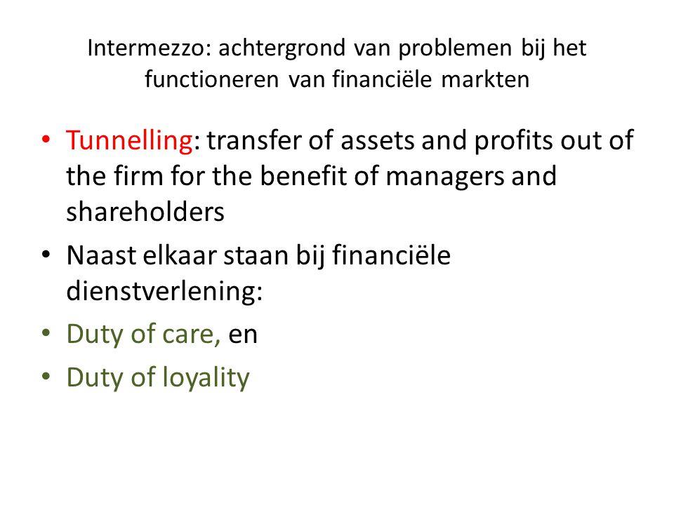 Naast elkaar staan bij financiële dienstverlening: Duty of care, en