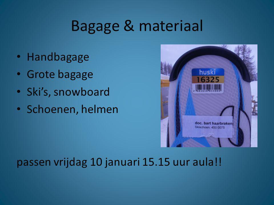 Bagage & materiaal Handbagage Grote bagage Ski's, snowboard
