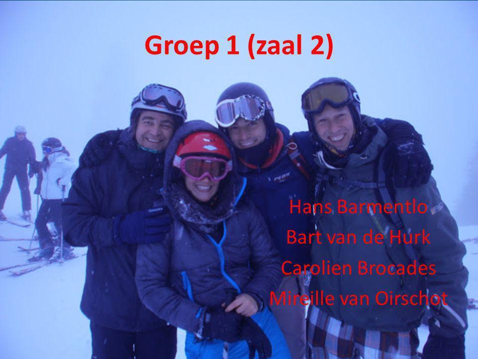 Groep 1 (zaal 2) Hans Barmentlo Bart van de Hurk Carolien Brocades Mireille van Oirschot