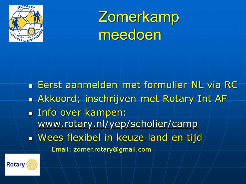 Zomerkamp meedoen Eerst aanmelden met formulier NL via RC